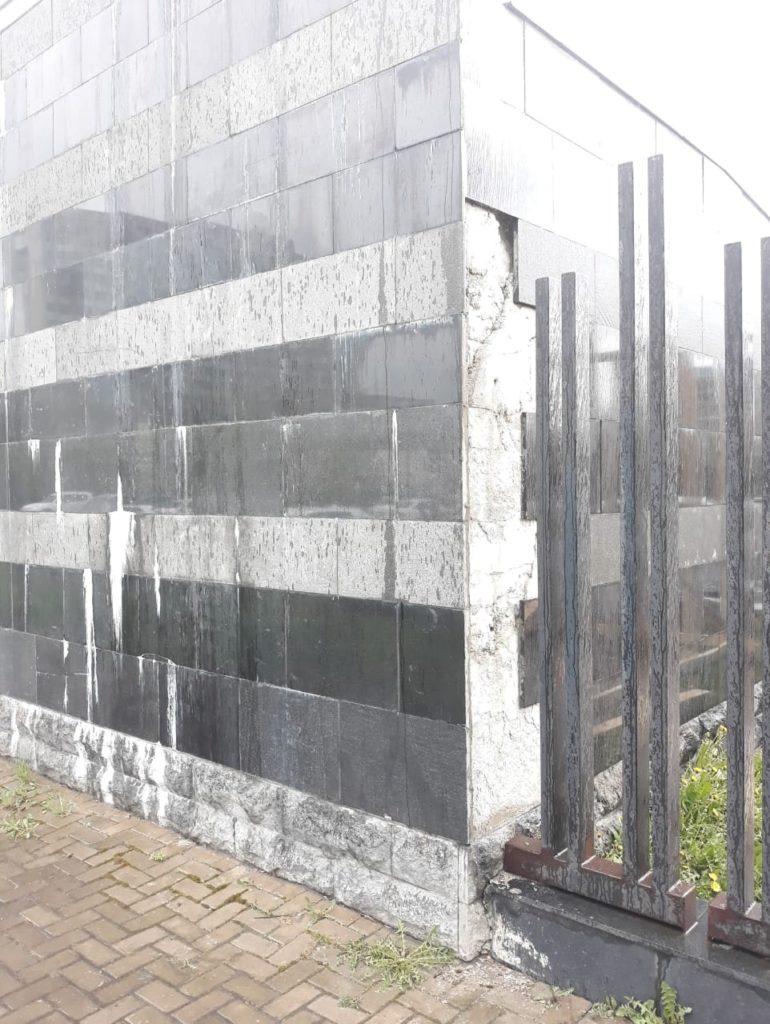 Ремонт фасада из натурального гранита